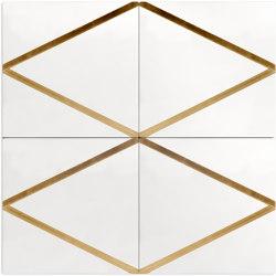 Brass Inlay Cement Tile | Arrow | Beton Fliesen | Eso Surfaces