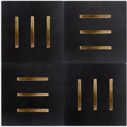Brass Inlay Cement Tile | Lines | Beton Fliesen | Eso Surfaces
