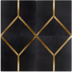 Brass Inlay Cement Tile   Y   Beton Fliesen   Eso Surfaces