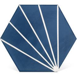 Decorative Cement Tile | Striped Hex | Concrete tiles | Eso Surfaces