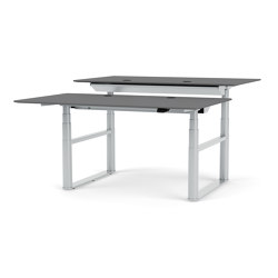 HiLow Double – height-adjustable desk with double frame | Montana Furniture | Contract tables | Montana Furniture
