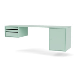 Montana Selection | WORKSHOP – desk with trays and cabinet | Montana Furniture | Mesas contract | Montana Furniture