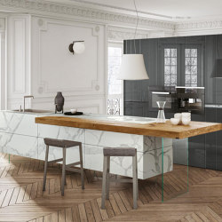 36e8 Marble XGlass Kitchen - 1087 | Fitted kitchens | LAGO