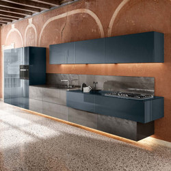 36e8 Metal XGlass Kitchen - 1093 | Fitted kitchens | LAGO