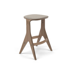 Lavitta Counter Stool 65 with Leather Upholstery - Dark Oak   Counter stools   Poiat