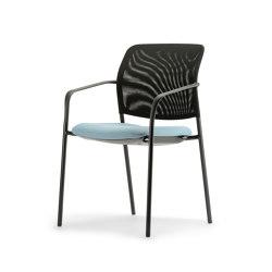 Cay mesh Four-legged chair | Chairs | Dauphin