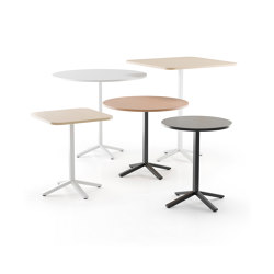 Alku table with cross base | Dining tables | Martela