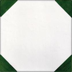 LR CO Dama Obliqua angolo verde | Carrelage céramique | La Riggiola