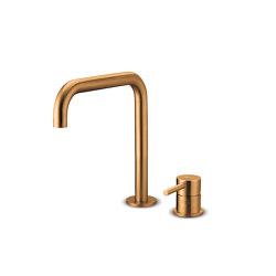JEE-O slimline 2 hole mixer set low | bronze | Wash basin taps | JEE-O