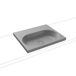 Centro Inset Countertop Washbasin 40mm cool grey 30 | Lavabos | Kaldewei