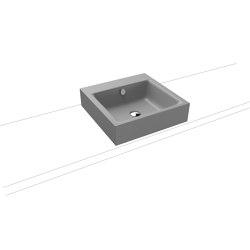 Puro countertop washbasin 120mm cool grey 30   Wash basins   Kaldewei