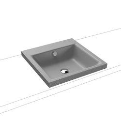 Puro inset Countertop washbasin 40mm cool grey 30   Wash basins   Kaldewei
