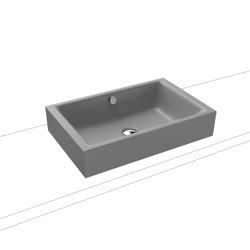 Puro S countertop washbasin 120mm cool grey 30   Wash basins   Kaldewei