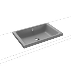 Puro S countertop washbasin 40mm cool grey 30   Wash basins   Kaldewei
