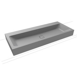 Cono Wall-hung double washbasin cool grey 30   Wash basins   Kaldewei