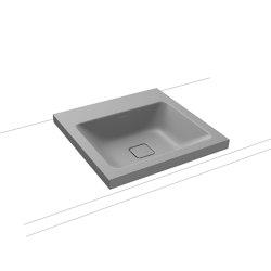 Cono inset countertop washbasin 40mm cool grey 30   Wash basins   Kaldewei