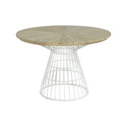 Fiorella Spoke Table 110 Teak Top   Dining tables   cbdesign