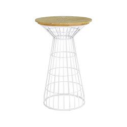 Fiorella Spoke Table 70 Teak Top   Bistro tables   cbdesign