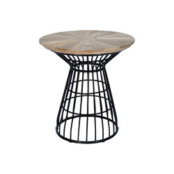 Fiorella Spoke Table 80 Teak Top   Dining tables   cbdesign