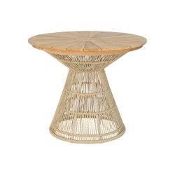 Fiorella Weaving Table 90 Teak Top   Dining tables   cbdesign