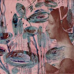 Lady from past and future   Lady from past and future (vivid pastel)   Wall coverings / wallpapers   Walls beyond