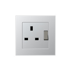 A 550 | British Standard Aluminium | British sockets | JUNG
