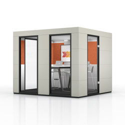 Conference Unit |  Birch Grey | Soundproofing room-in-room systems | OFFICEBRICKS