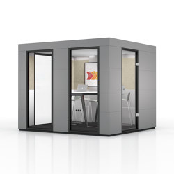 Conference Unit | Dark Grey | Soundproofing room-in-room systems | OFFICEBRICKS