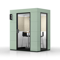 Dialogue Unit |  Sea Green | Soundproofing room-in-room systems | OFFICEBRICKS
