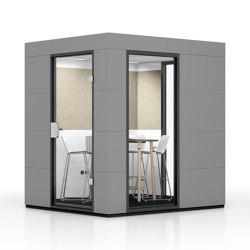 Meeting Unit | Dark Grey | Soundproofing room-in-room systems | OFFICEBRICKS