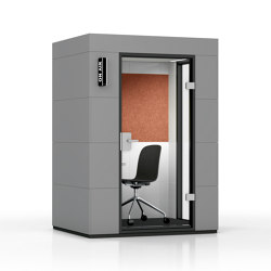 Work Unit |  Dark Grey | Office Pods | OFFICEBRICKS