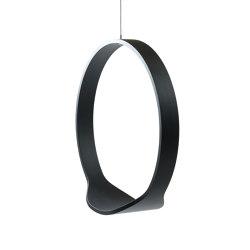 Circleswing N.1 Wooden Hanging Chair Swing Seat - Black Oak⎥indoor | Swings | Iwona Kosicka Design