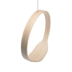 Circleswing N.1 Wooden Hanging Chair Swing Seat - Little White Oak⎥outdoor | Swings | Iwona Kosicka Design