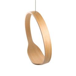 Circleswing N.1 Wooden Hanging Chair Swing Seat - Natural Oak⎥outdoor | Swings | Iwona Kosicka Design