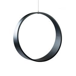 Circleswing N.2 Wooden Hanging Chair Swing Seat - Black Oak⎥outdoor | Swings | Iwona Kosicka Design