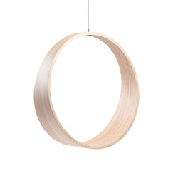 Circleswing N.2 Wooden Hanging Chair Swing Seat - Little White Oak⎥outdoor | Swings | Iwona Kosicka Design