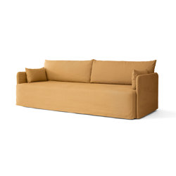 Offset Loose Cover 3. Seater | Cotlin, Wheat | Tejidos tapicerías | MENU