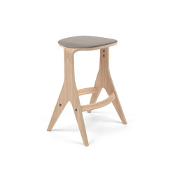 Lavitta Counter Stool 65 with Wool Upholstery – Oak   Counter stools   Poiat