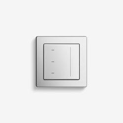Jalousiesteuerung | System 3000 Touchaufsatz | Edelstahl (mit E2) | Smart Home | Gira