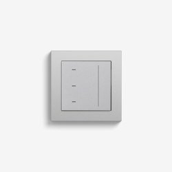 Jalousiesteuerung | System 3000 Touchaufsatz | Farbe Alu (mit E2) | Smart Home | Gira