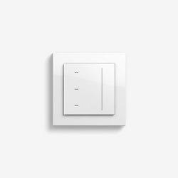 Jalousiesteuerung | System 3000 Touchaufsatz | Reinweiß glänzend (mit E2) | Smart Home | Gira