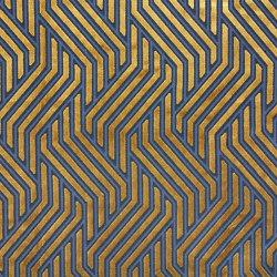 Invicta | Modernist Jacquard Velvet 02 Gold Over Blue | Upholstery fabrics | Aldeco