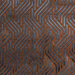Invicta | Modernist Jacquard Velvet 03 Terracotta Blue | Upholstery fabrics | Aldeco