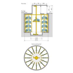 WÖHR Bikesafe | Shaft 4 Levels | Bicycle shelters | Wöhr