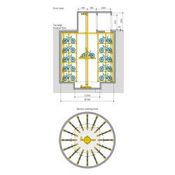 WÖHR Bikesafe | Shaft 5 Levels | Bicycle shelters | Wöhr