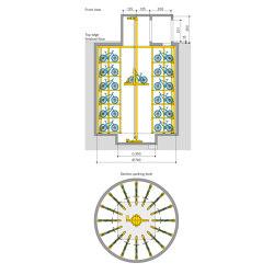 WÖHR Bikesafe | Shaft 6 Levels | Bicycle shelters | Wöhr