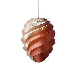 Swirl SWIRL 2 L Copper   Suspended lights   LE KLINT