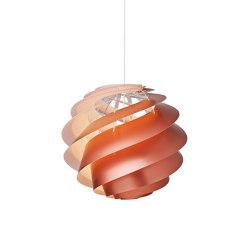Swirl SWIRL 3 L Copper   Suspended lights   LE KLINT