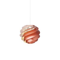 Swirl SWIRL 3 M Copper   Suspended lights   LE KLINT