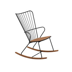 PAON | Rocking Chair Black | Armchairs | HOUE